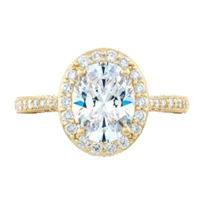 RoyalT Oval Diamond Ring In Gold