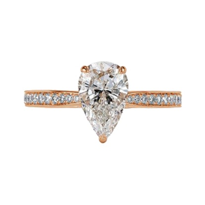 1.97ct Pear Shaped Diamond Engagement Ring