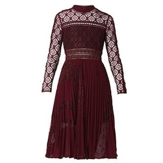 Symm Lace-Panelled Midi Dress