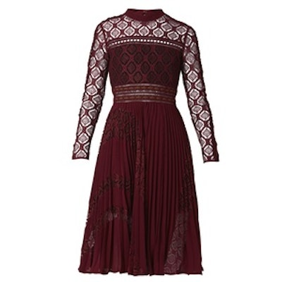 Symm Lace-Panelled Midi Dress