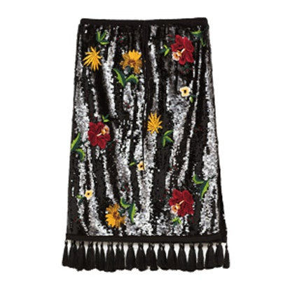 Midi Embroidered Skirt
