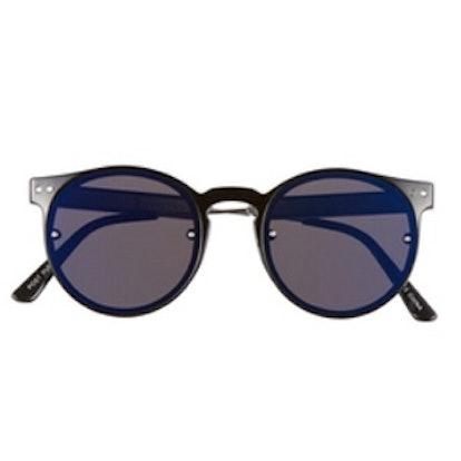 Post Punk Round Mirrored Sunglasses