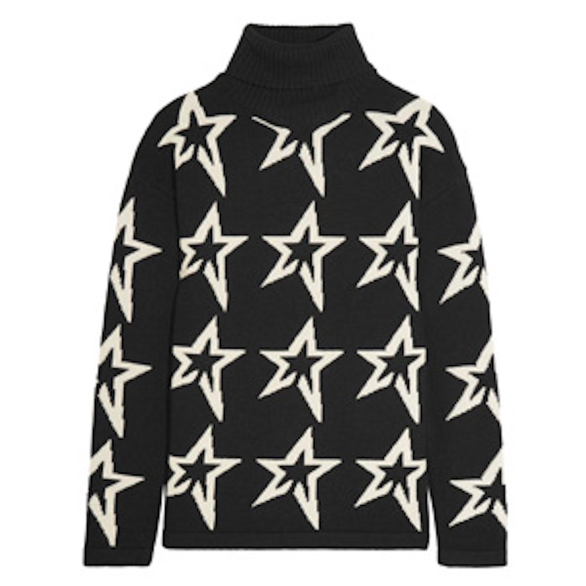 Stardust Intarsia Turtleneck Sweater