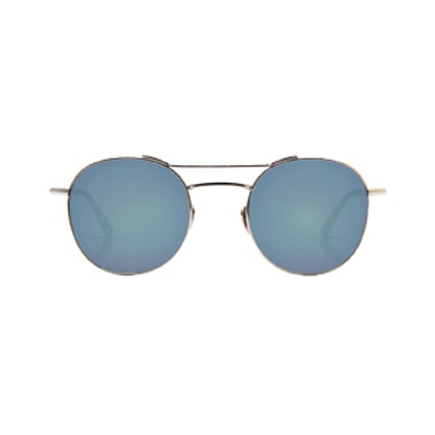 Orleans Titanium + Blue Steel Sunglasses