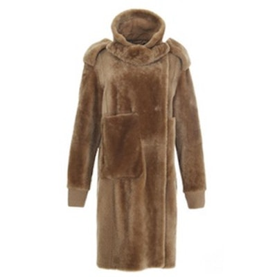 Shearling Military Coat