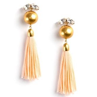 Blush Make A Wish Tassel Earrings