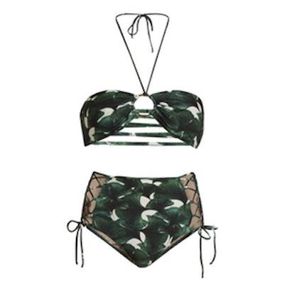 Ginkgo Print Bandeau Bikini