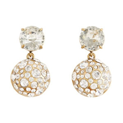 Scattered Crystal Drop Earrings