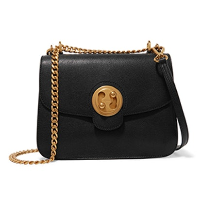 Mily Textured-Leather and Suede Shoulder Bag