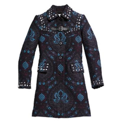 Studded Tapestry Coat