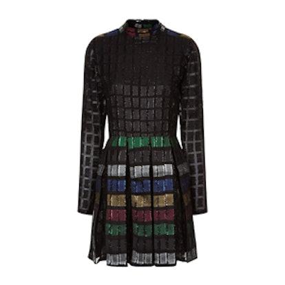 Multi Lurex Pleated Brenda Dress