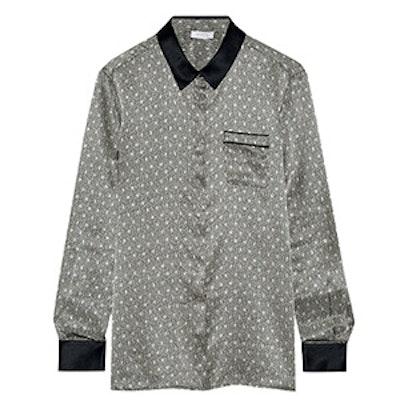 Ambroise Atrium Printed Silk-Satin Pajama Top