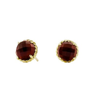 Châtelaine Earrings With Garnet In Gold