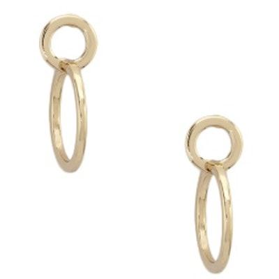 Circle Cutout Drop Earrings