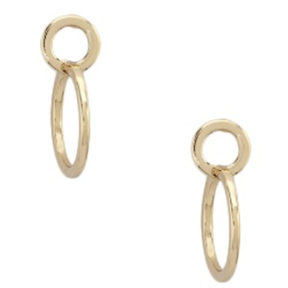 Circle Cutout Drop Earrings