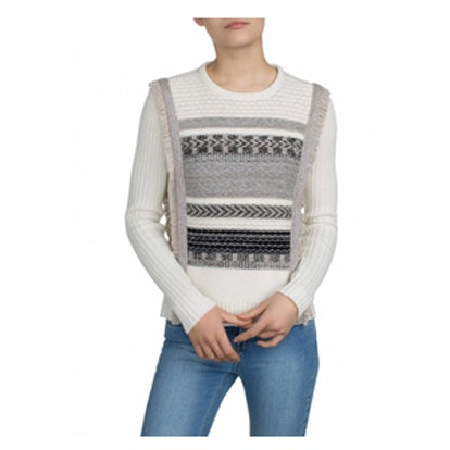 Fringe Crewneck Sweater