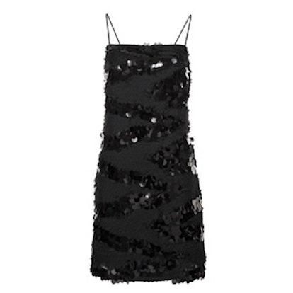 Black Sequin Cami Mini Dress