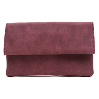 Chic View Faux Leather Foldover Clutch