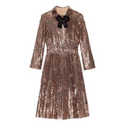 Sequin with Crystal Embellished Dress
