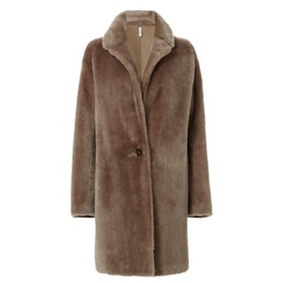 Shearling Reversible Leather Coat