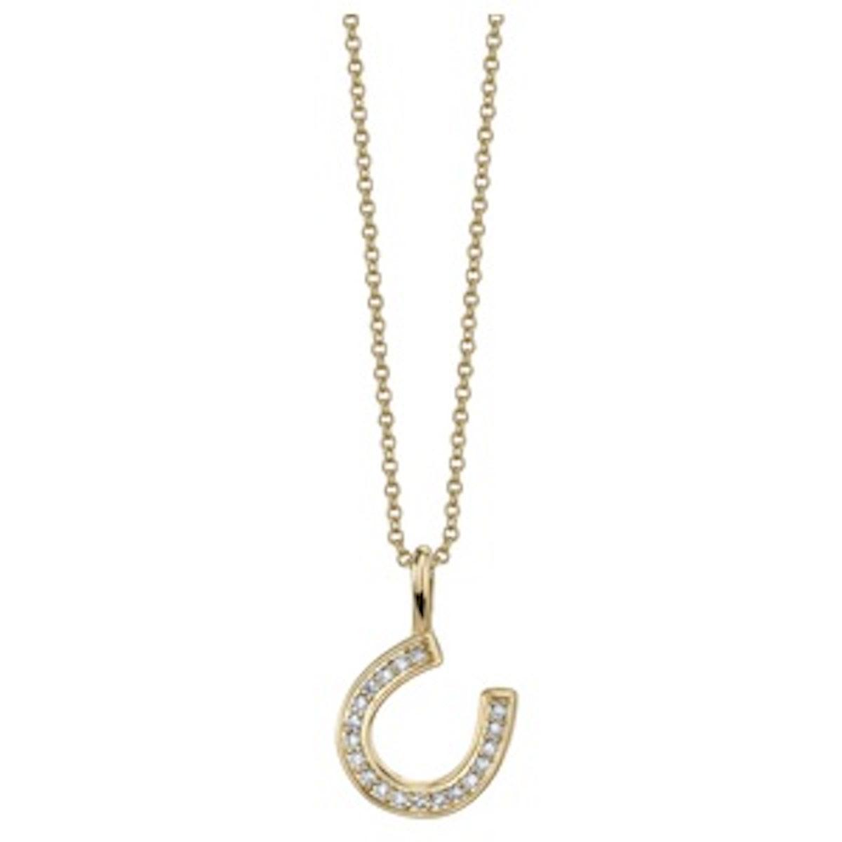 Mini Pave Horseshoe Necklace