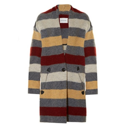 Gabrie Blanket-Striped Coat