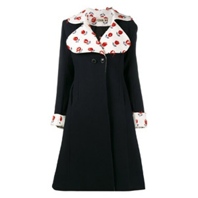 Embroidered Flared Coat