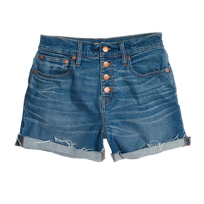 High-Rise Denim Boyshorts
