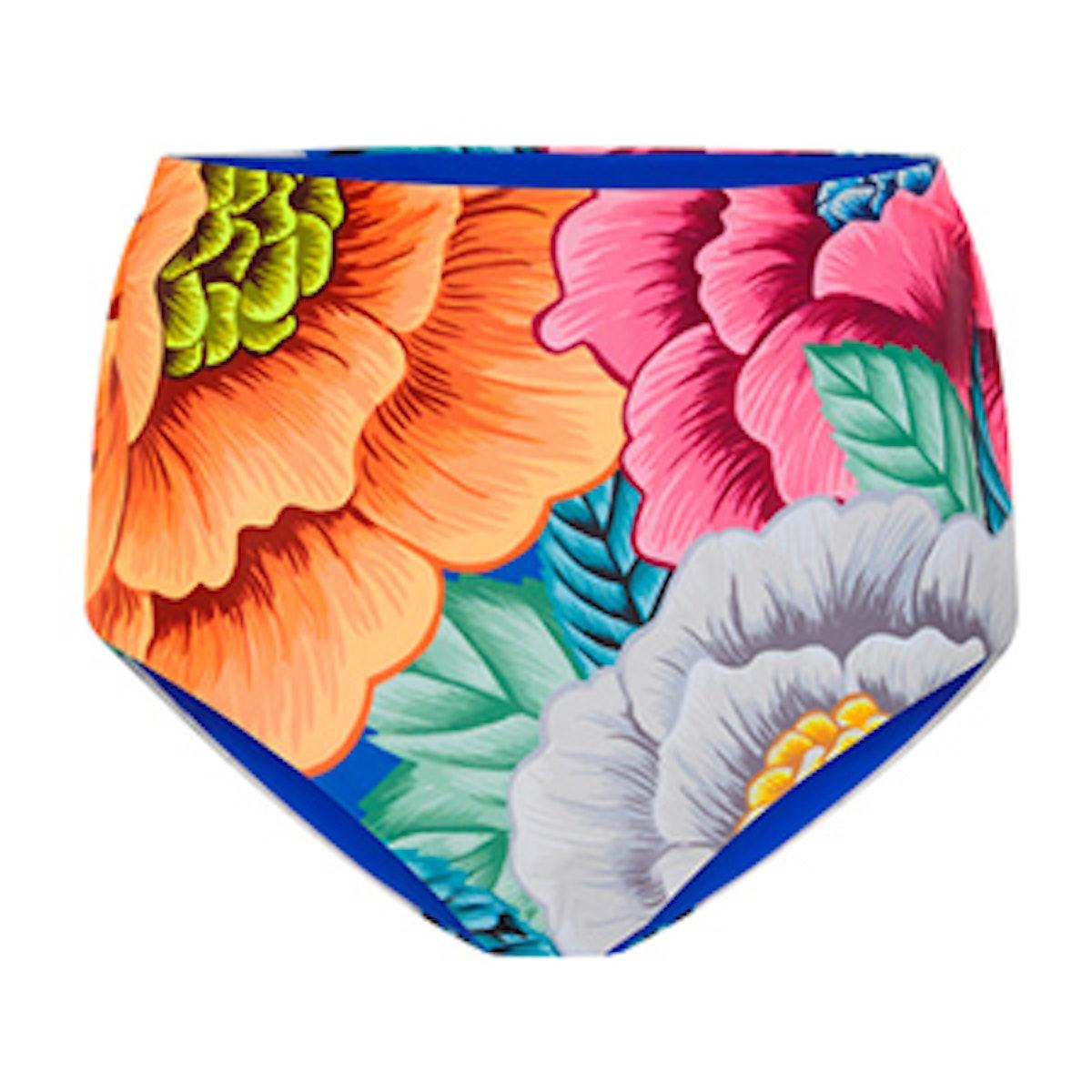 High Waisted Floral Bikini Bottom