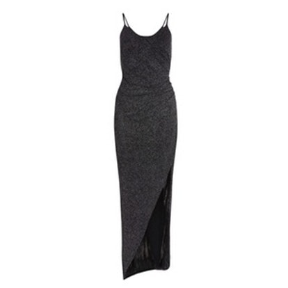 Black Glitter Strappy Dress