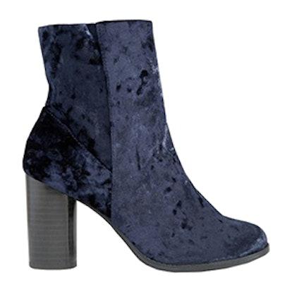 Velvet High Ankle Boots