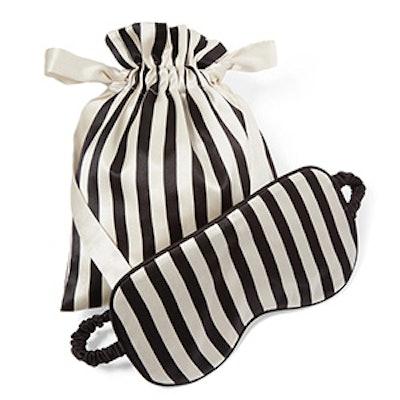 Nika Reversible Striped Silk-Satin Sleep Mask