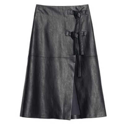 Snake Embossed Faux Leather Skirt