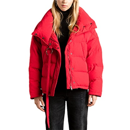 Oversize Bomber Puffy Jacket