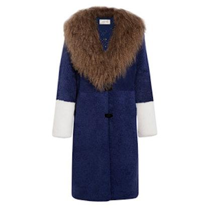 Febbe Color-Block Shearling Coat