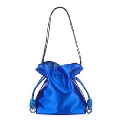 Flamenco Knot Small Satin Shoulder Bag
