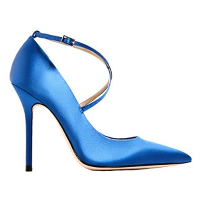 Satin High Heel Shoes With Straps