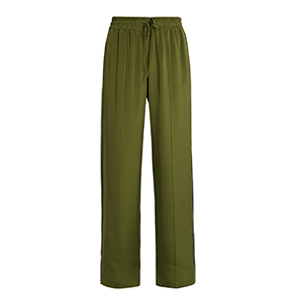 Wide-Leg Silk Crepe de Chine Trousers