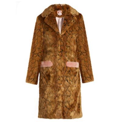 Claude Leopard-Print Faux-Fur Coat
