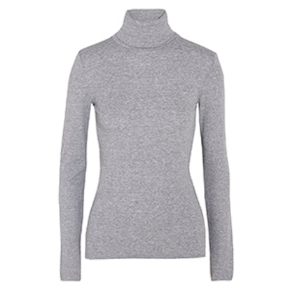 Supima Cotton and Modal-Blend Jersey Turtleneck Top