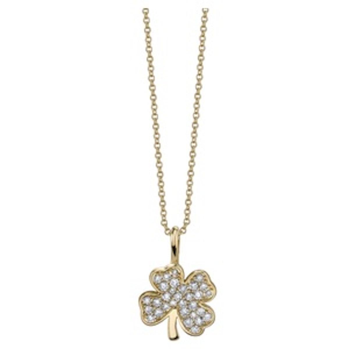 Mini Pave Clover Necklace