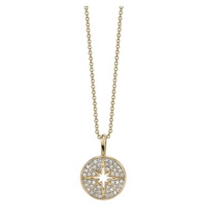 Mini Pave Starburst Necklace