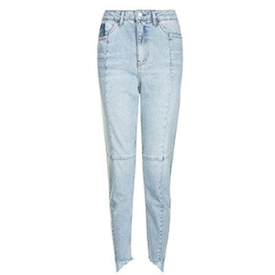 Moto Seam Detail Mom Jeans