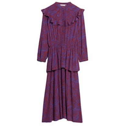 Zebraic Frilled Dress