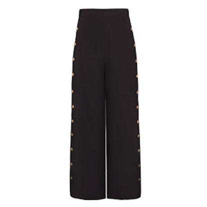 Sydney Black Snap Button Side Pants