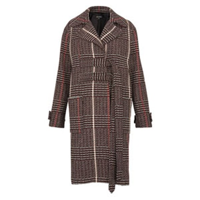Jerry Belted Check Coat