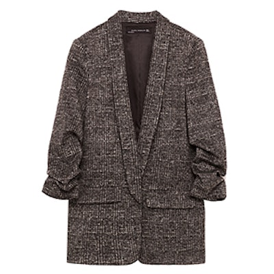Check Jacket with Roll-Up Sleeves