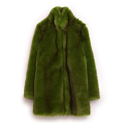 Green Faux Fur Coat