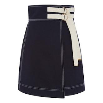 Wrap Effect Mini Skirt
