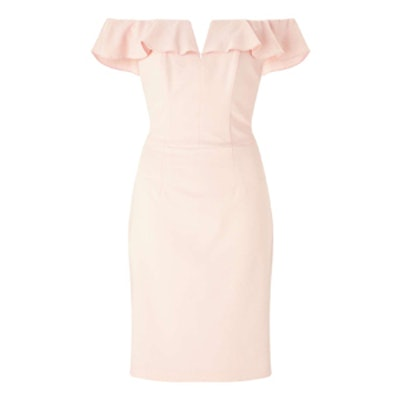 Ruffle Bandeau Midi Dress